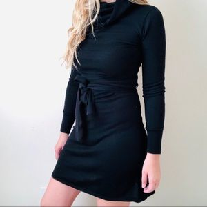 H&M black knit sweater dress - SMALL